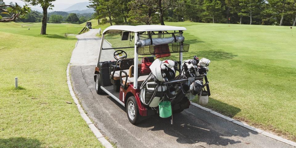 ゴルフカートなどレジャー施設での電気車電池